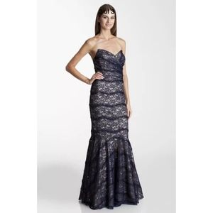 NEW JS Collections Strapless Lace Trumpet Gown 10
